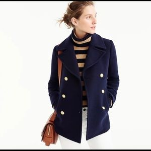 J.crew Nello Gori stadium cloth pea coat